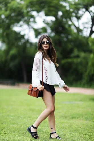 dulceida blogger blouse bag shorts shoes sunglasses