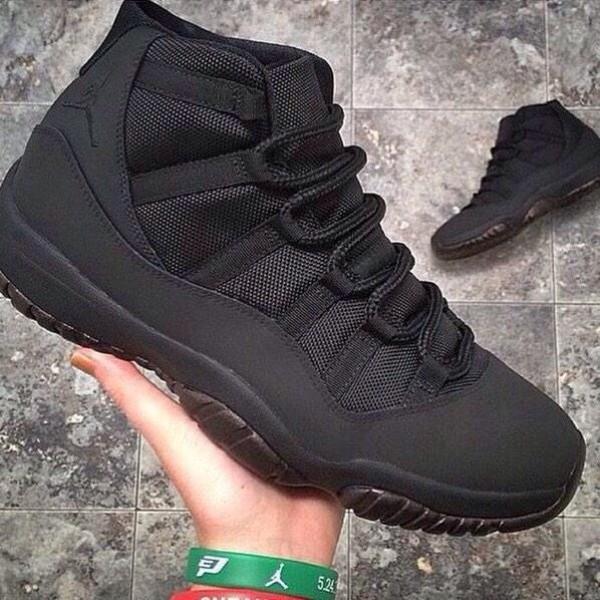 air jordan 11 all black everything black