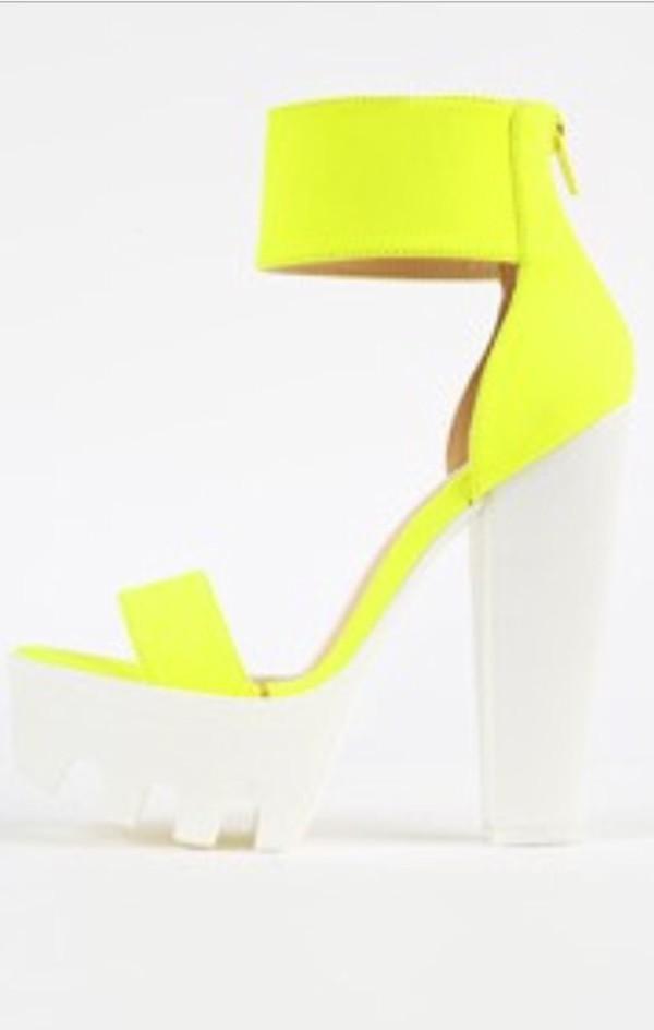 Neon Yellow Platform Shoes - Shop for Neon Yellow Platform Shoes