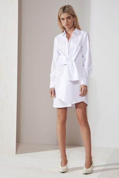 The fifth dress shirt dress white