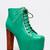 JEFFREY CAMPBELL LITA Turquoise Leather Platform BOOT Booty Heel Women sz NEW!