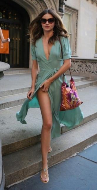 dress wrap dress miranda kerr