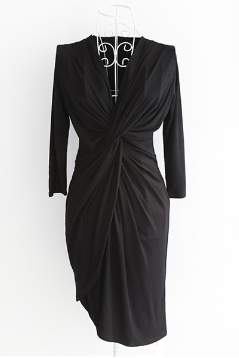 V Neck Long Sleeve Sexy One-piece Dress,Cheap in Wendybox.com