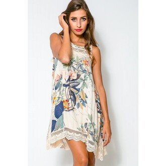 dress floral dress floral bikini sleeveless dress sleeveless top printed laced printed dress blue printed dress