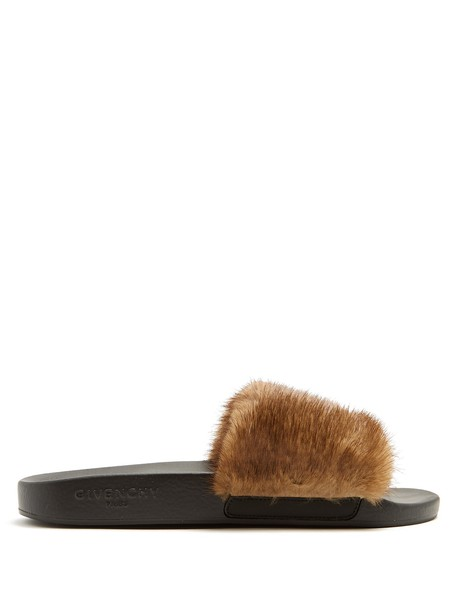 Givenchy fur brown shoes