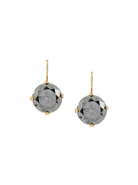 Wouters & Hendrix women earrings gold silver grey metallic jewels