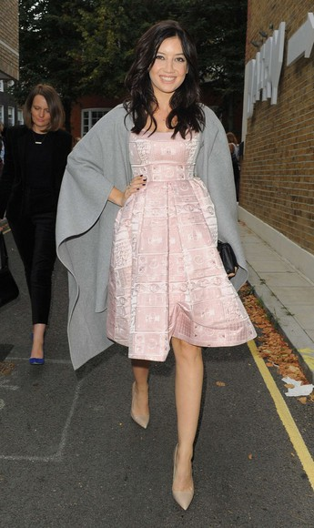 daisy lowe dress fashion week 2014