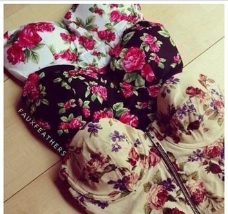 tank top top liberty pink black white flowers purple summer