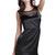 Black Sleeveless Bow Decor Backless Sexy Dress