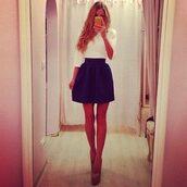 skirt,girl,clothes,fashion,style,dress,top,party,stylish,blogger,pretty,cute,pants,heel,shoes,shirt,blouse,white blouse,mini skirt,blue,blue skirt,black skirt,black,fancy,perfect