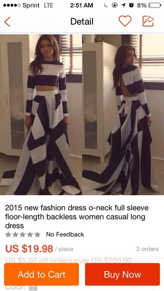 zendaya two-piece striped top striped skirt maxi skirt