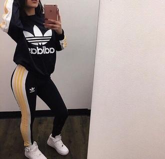 tights adidas adidas originals adidas sweater adidas leggings logo adidas shirt black