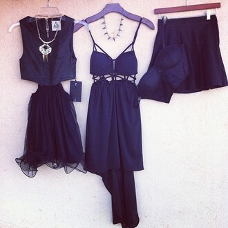 dress jewels clothes necklace skirt black blouse edgy hipster indie lace summer bustier tumblr girl cut-out ruffle