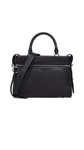 satchel,zip,black,bag