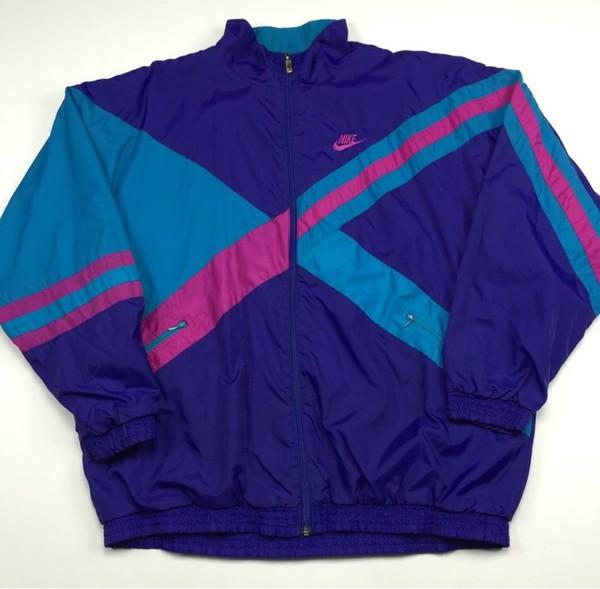 jacket nike jacket vintage jacket windbreaker blue