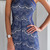 Blue Lace Spaghetti Strap High Scoop Neck on Storenvy