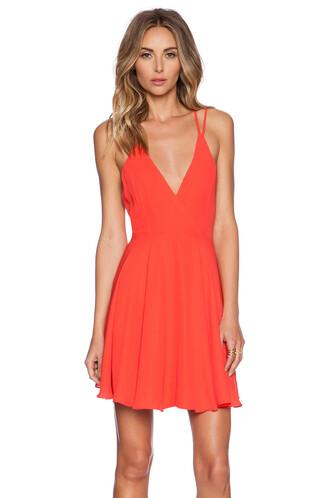 dress mini dress cross mini back red