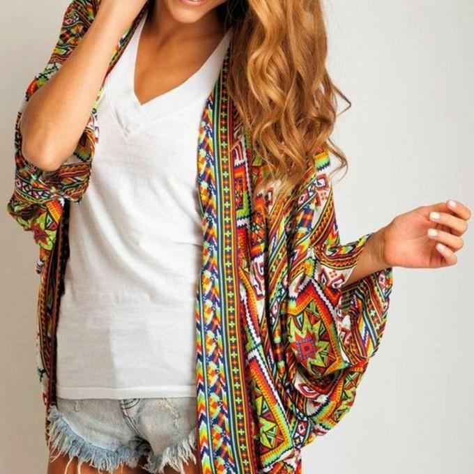 Kimono Blouse Pattern Free - Hot Black Blouse