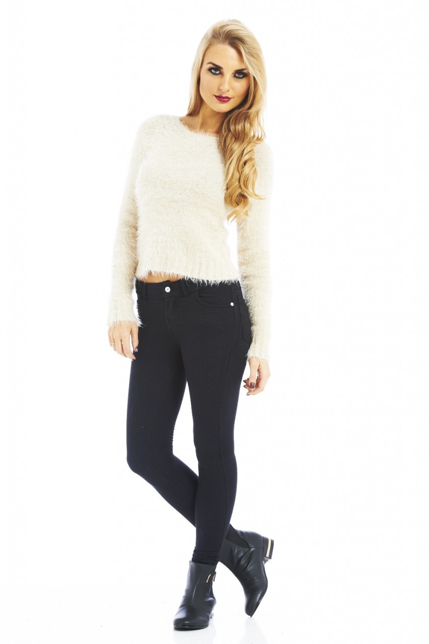 Mohair Short Cream Jumper