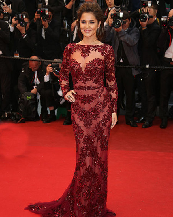 dress cheryl cole long dress