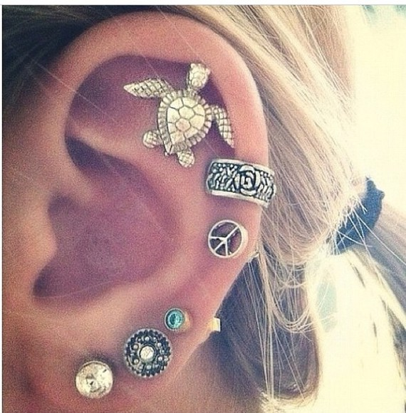 jewels piercing earrings cute ear piercings awesome helps