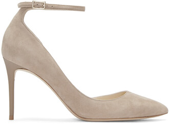 heels suede beige shoes