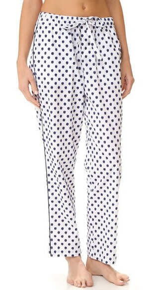 pants pajama pants navy