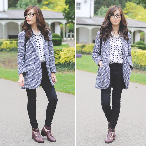 temporary secretary blogger jeans cut out ankle boots