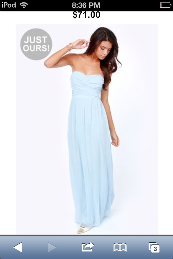 dress maxi dress blue dress chiffon
