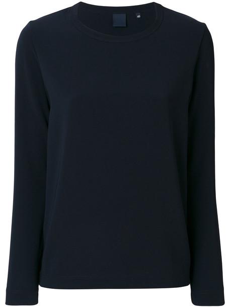 Aspesi - longsleeved T-shirt - women - Polyester/Triacetate - 40, Blue, Polyester/Triacetate