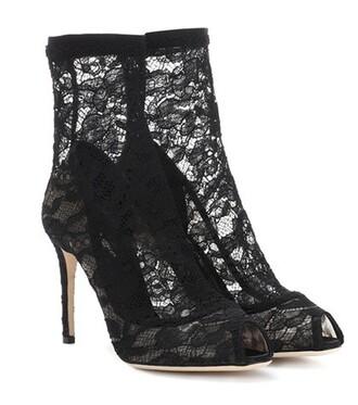ankle boots lace black shoes