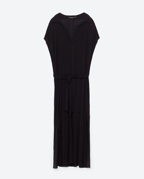 dress zara black dress fall outfits classic tunic
