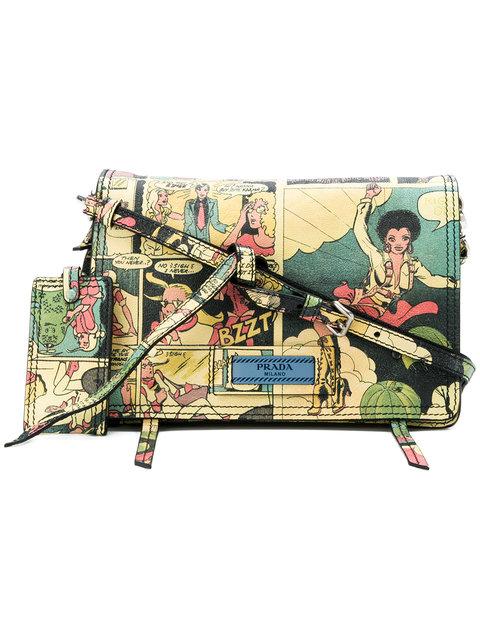 Prada Etiquette Cartoon Print Shoulder Bag - Farfetch