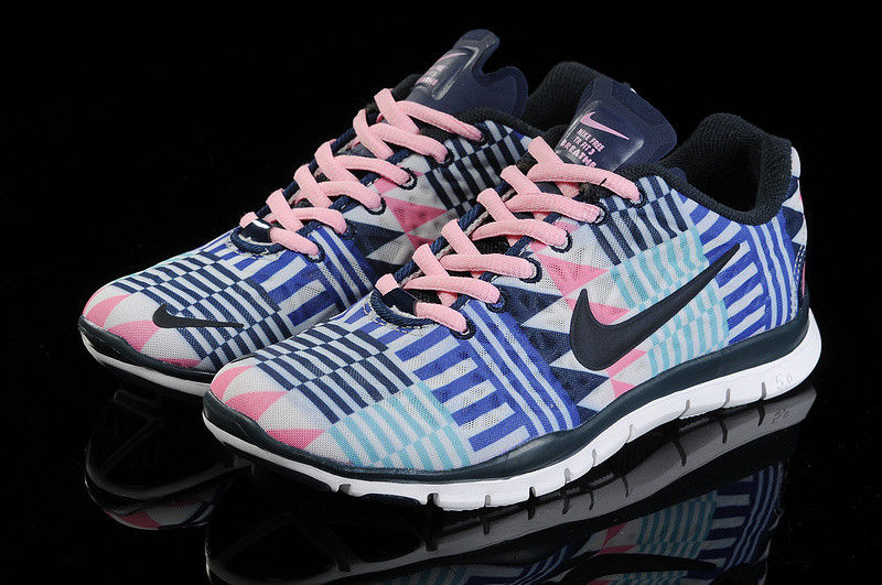 new product 610ca e029c Nike Free TR Fit 3 Pink Black White Green Aztec Chevron Trib