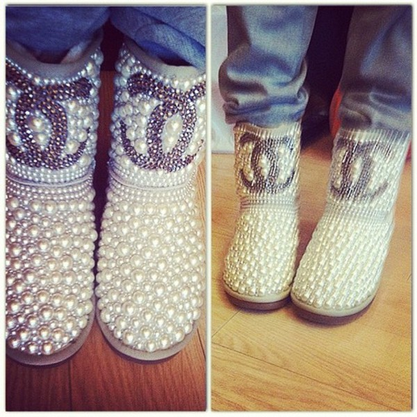 shoes boots shorts ugg boots chanel beaded