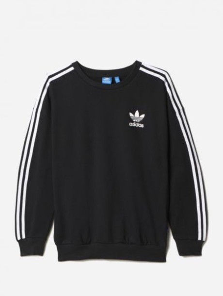 adidas sweater black and white