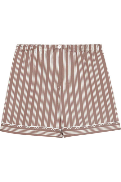 Rochas | Striped brushed-silk shorts | NET-A-PORTER.COM