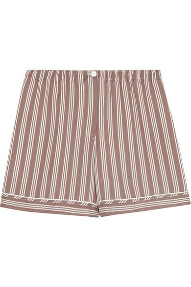 Rochas|Striped brushed-silk shorts|NET-A-PORTER.COM