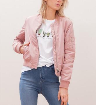 jacket bomber jacket pink bomber jacket pink satin t-shirt
