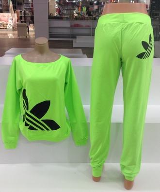 pants neon adidas tracksuit