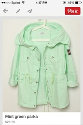 coat,mint,parka,jacket,green,pastel,pastel green