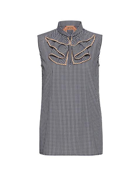No.21 shirt plaid shirt plaid top