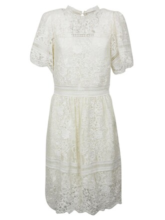 dress lace dress embroidered new lace cream
