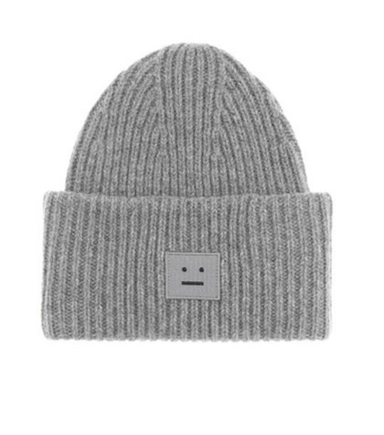 beanie wool grey hat