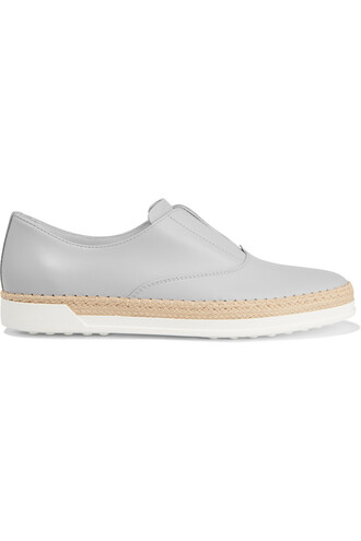 espadrilles leather shoes