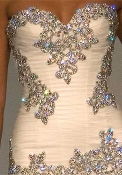 Wedding Dresses Sweetheart Neckline Princess Bling