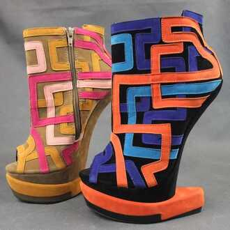 shoes platform shoes colorful high heels high heels fashion lady's dress