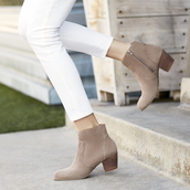 shoes,sole society,western boots,ankle boots,booties,suede booties,boots,leather ankle boots,summer shoes,concert,taupe shoes