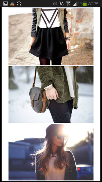 black skater skirt black skirt cardigan gilet pullover sac louis vuitton forest green