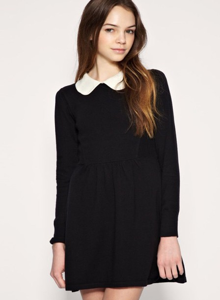 dress petere pan collar black dress